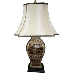 Pair of Chinese Inspired Vase with Lamp Application