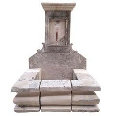 French Limestone Fountain, 20th Century, France