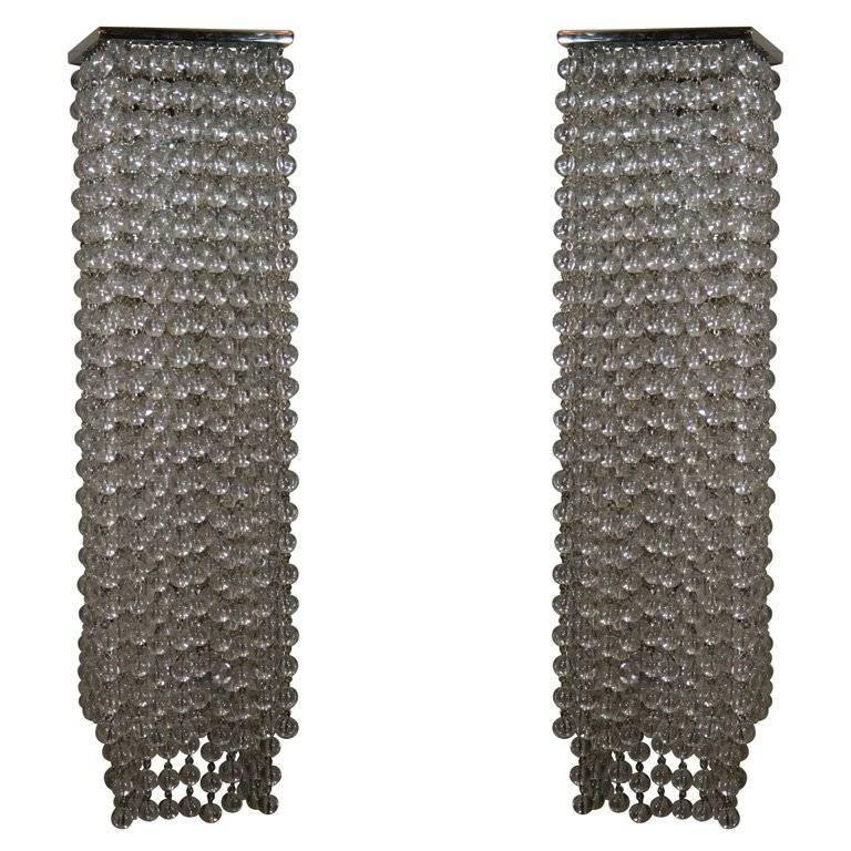 Art Deco Style Beaded Wall Sconces For Sale