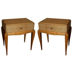 Pair of Art Deco End Tables by Rene Prou