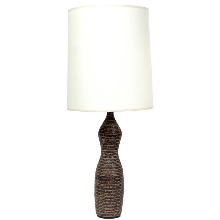 Ceramic Bottle Form Lamp Attributed to Lee Rosen for Design Technics