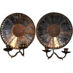 Pair of Mirrored Sconces, circa 1790