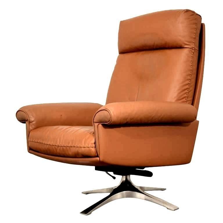 Vintage De Sede DS 31 Swivel Lounge Armchair 1970s