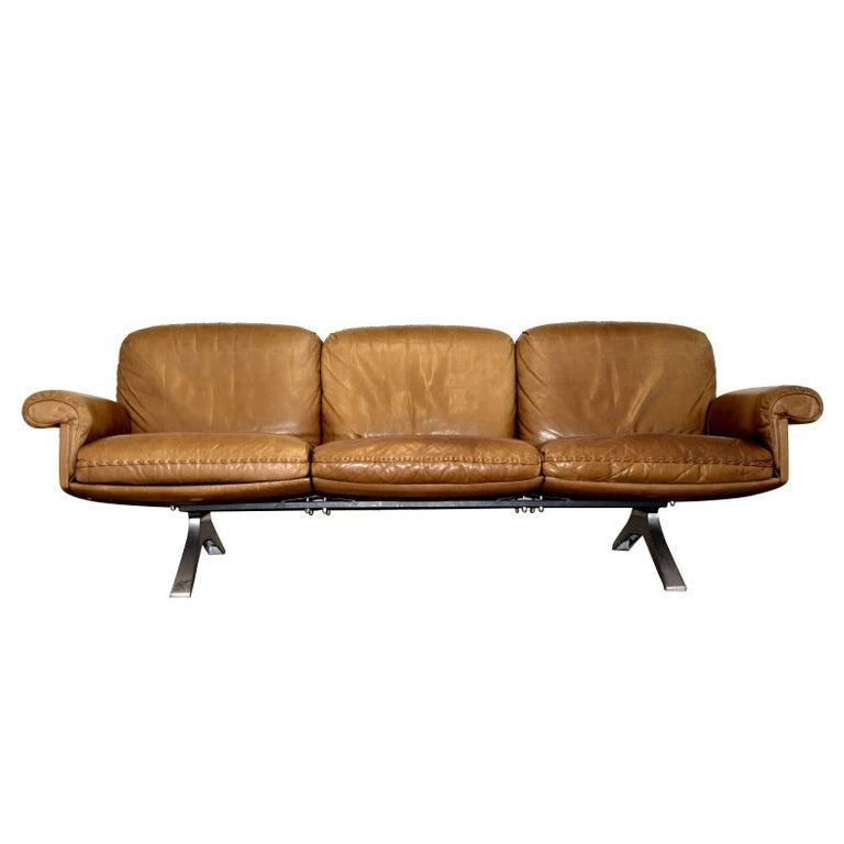Vintage De Sede DS 31 Three-Seat Sofa 1970`s