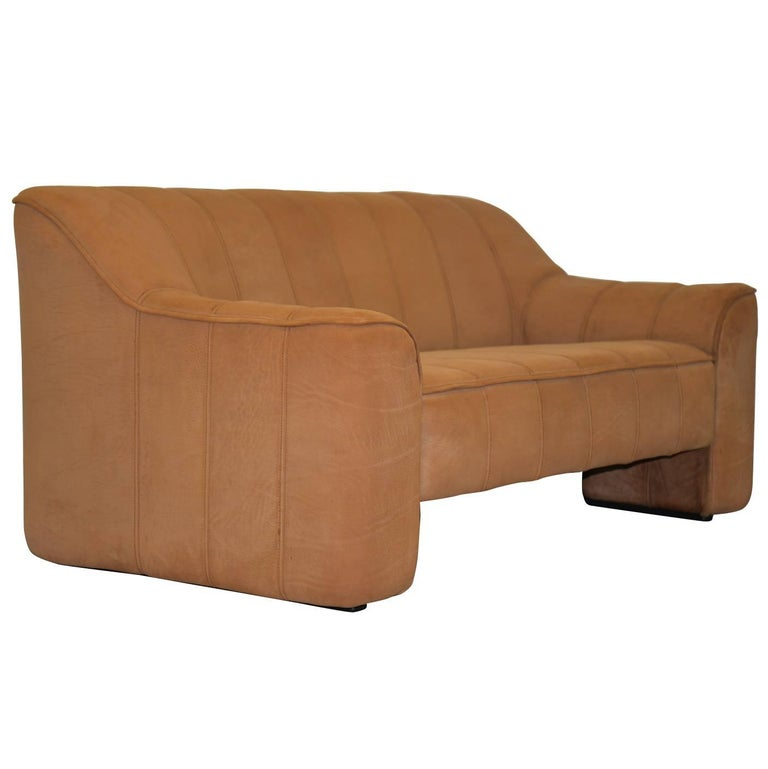 Vintage De Sede DS 44 Leather Two-Seat Sofa or Loveseat Switzerland 1970`s For Sale
