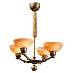 Swedish Art Deco Four-Arm Chandelier