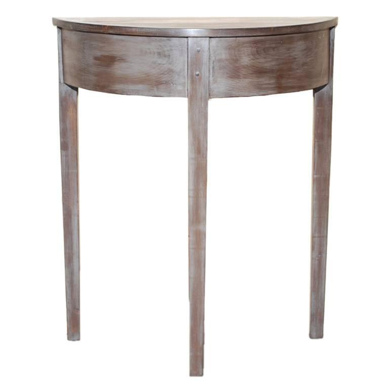 demi lune console table from reclaimed wood for sale at 1stdibs. Black Bedroom Furniture Sets. Home Design Ideas