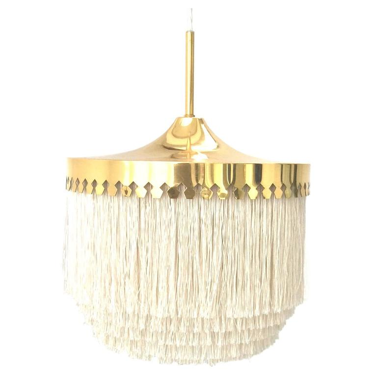 Fringed Pendant Light by Hans-Agne Jakobsson, Sweden, 1960s For Sale