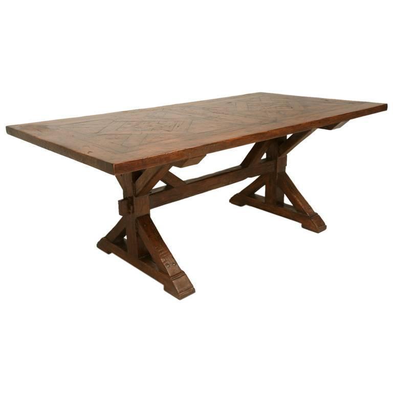 Handmade French White Oak Farm Table