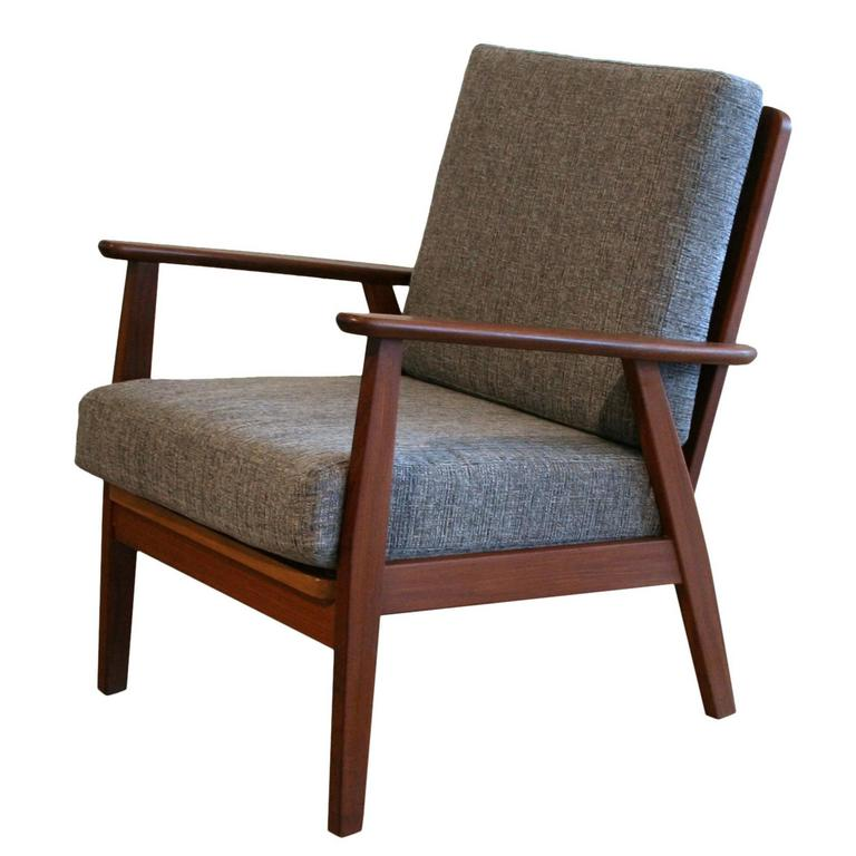 Vintage Danish Teak Lounge Chair at 1stdibs