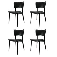 Set of Four Cross Frame Chairs by Max Bill