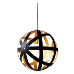 Meridian 24 Black Stained Walnut and Gold Leaf Pendant