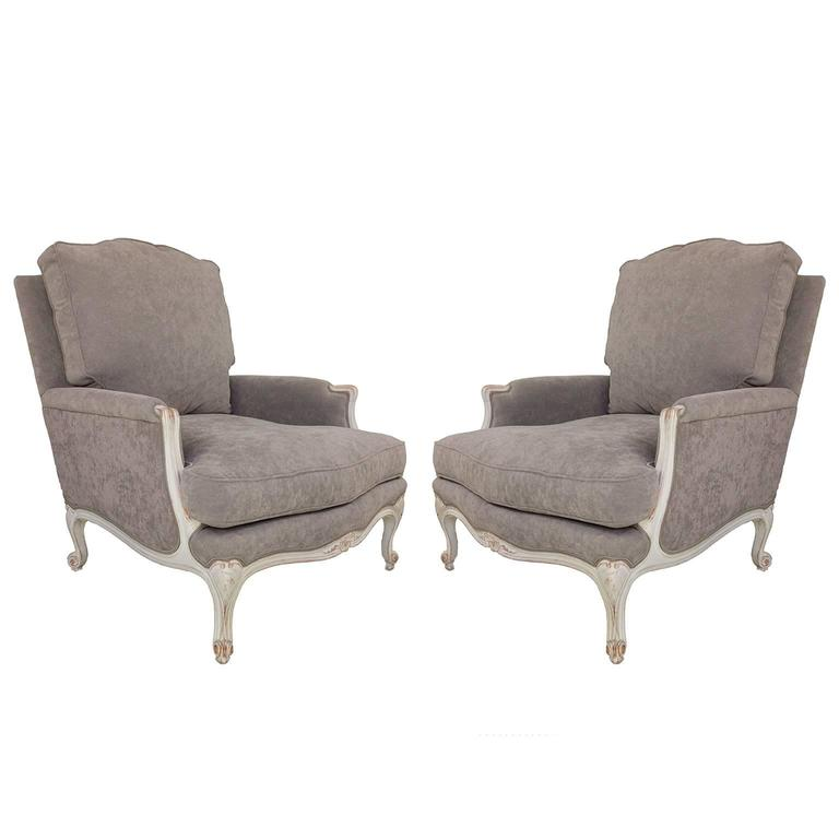 Pair of French, Louis XV Style Armchairs