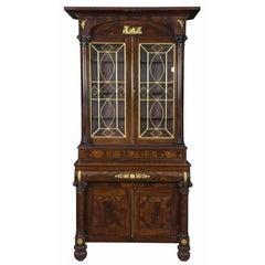 Monumental Classical Mahogany Bookcase Probably Meeks, NY, circa 1830