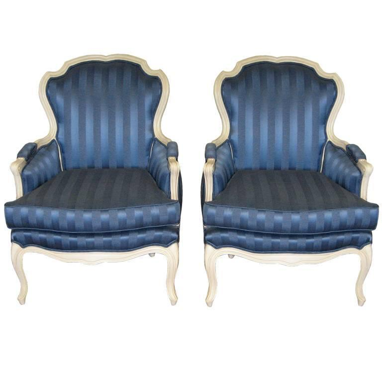 Maison Jansen Blue Lounge Chairs For Sale At 1stdibs