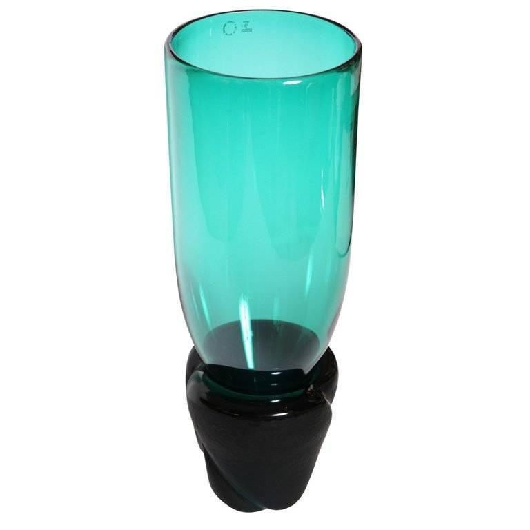 "Monumental Venini Murano Glass Vessel ""Munchen"" Laura Diaz de Santillana 1"