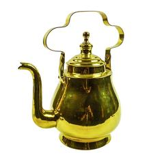 Dutch / Flemish Brass Tea Pot, circa 1880