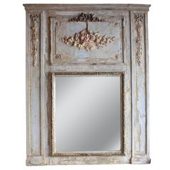 French 19th Century Trumeau Mirror in the Style of Louis XVI