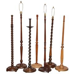 Collection of Antique English Floor Lamps