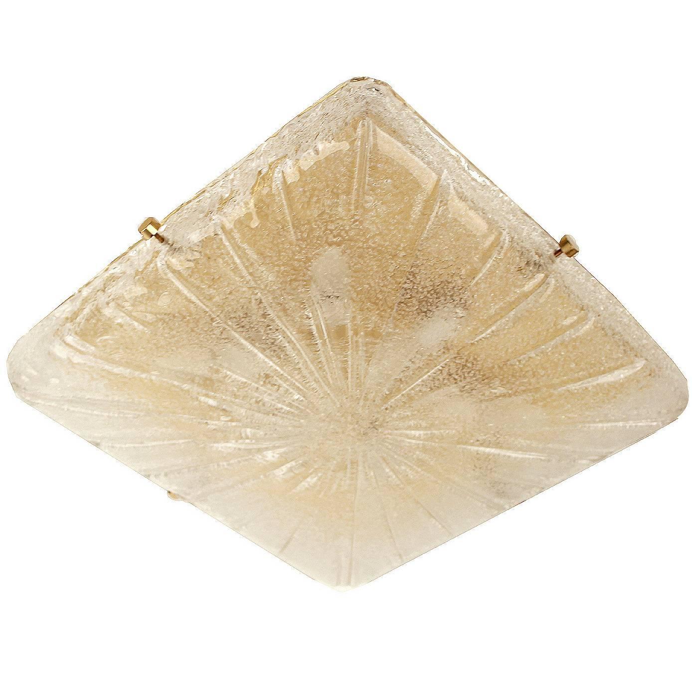 very large kalmar sunburst murano glass flush mount light. Black Bedroom Furniture Sets. Home Design Ideas