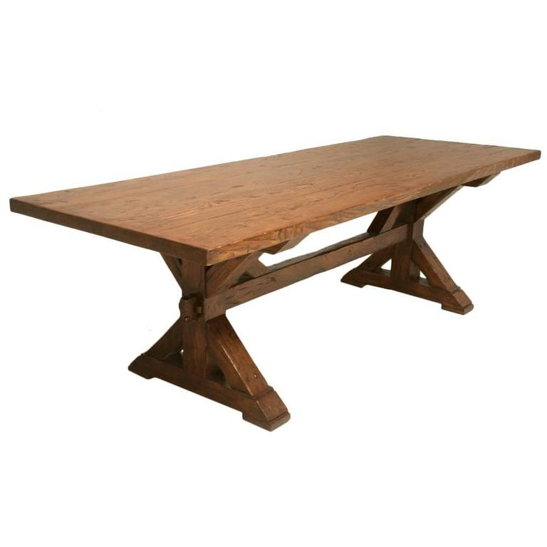White Oak Table ~ Handmade french white oak farm table for sale at stdibs