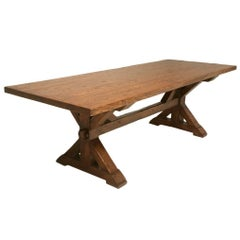 Handmade French White Oak Farm Table