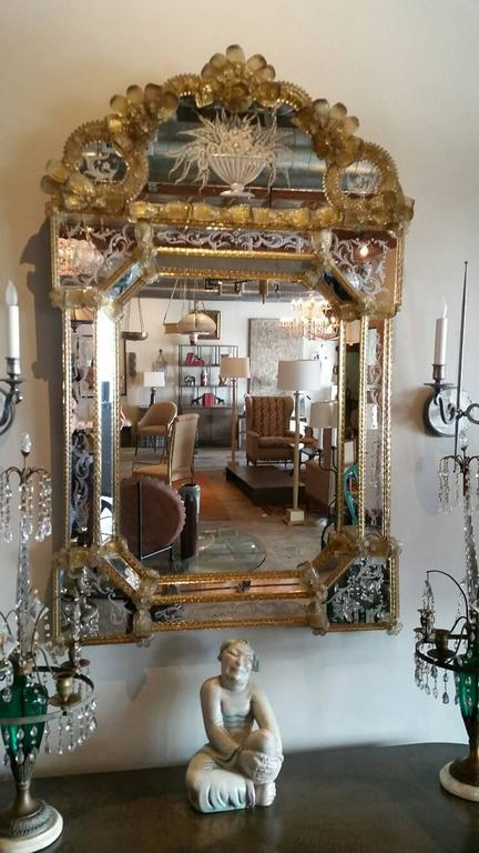Large Venetian Mirror For Sale 1