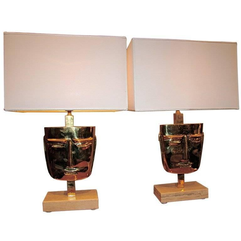 Eccola Mask Lamps For Sale