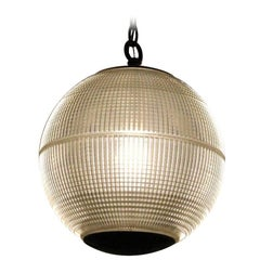 1960s Paris Holophane Globe Streetlight Turned Pendant Street Light