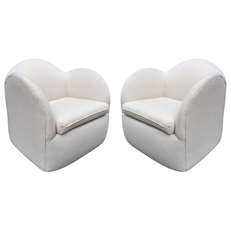 Pair of Art Deco Swivel Chairs