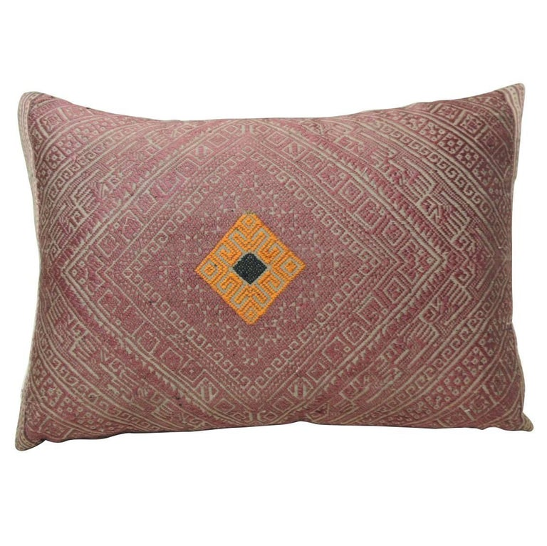 decorative lumbar throw pillows accent pillow covers vintage silk floss threads embroidery