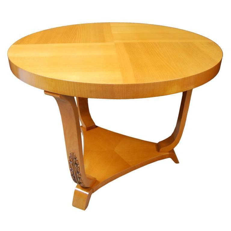 Swedish Art Deco Moderne Golden Elm End Or Side Table For Sale