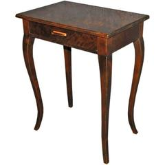Swedish Art Deco Flame Birch End or Side Table