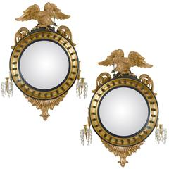 Pair of Regency Convex Mirrors