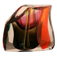 Murano Glass Vase by M.Tosso