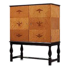 Important 'Swedish Grace' Cabinet by Carl Malmsten for the Waldorf Astoria Hotel