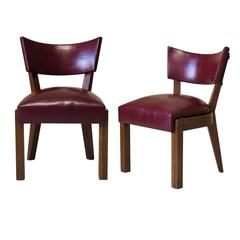 Eight Art Deco Dining Chairs by Charles Dudouyt, France, 1930s