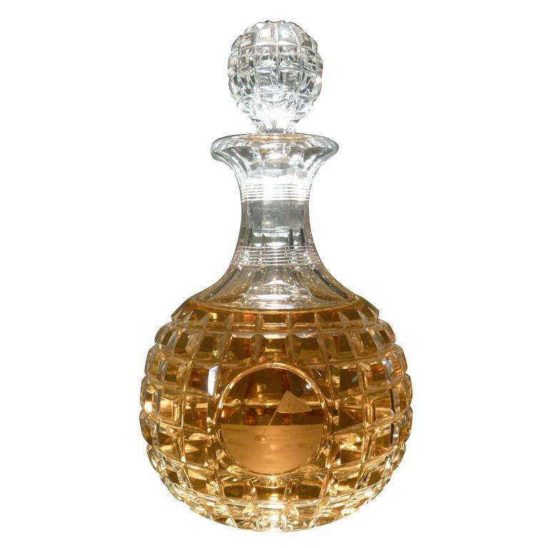 antique pairpoint cut glass golf decanter at 1stdibs