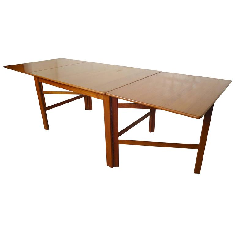 Teak Mid-Century Drop Leaf Dining Table