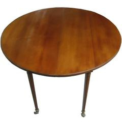 English Round Drop-Leaf Table