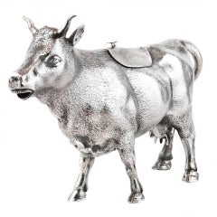 Antique Sterling Cow Creamer