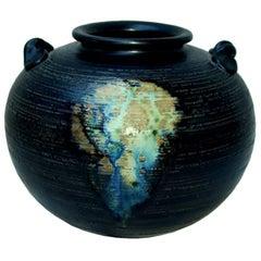 Shiragaraki Yaki Japanese Art Pottery Vase by Shiho Kanzaki