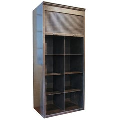 French Strafor Steel Roll Front Bookcase