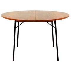 Rare French 1950s Extendable Rosewood Dining Table by Alain Richard