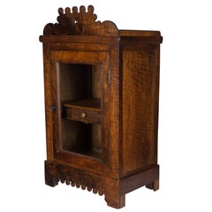 French Vitrine or Hanging Cabinet