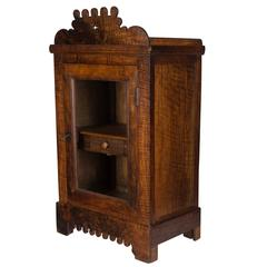 19th Century French Vitrine or Hanging Cabinet