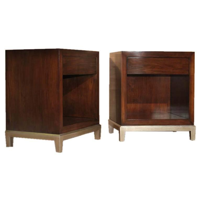 Bedside Cabinets In Solid Walnut For Sale At 1stdibs