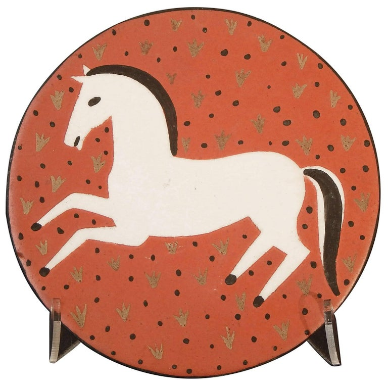 """""""Galloping Horse"""" Art Deco Plaque by Waylande Gregory, 1940s For Sale"""
