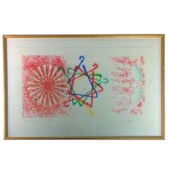 Signed & Numbered James Rosenquist, Number Wheel Dinner Triangle, 1978