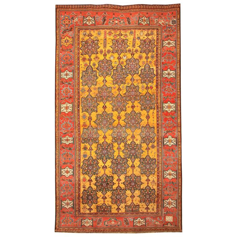 antique oriental bakhtiari persian rug or carpet 1